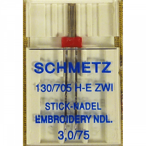 3.0/75 Aiguille Double à Broderie Schmetz: - Embroidery Twin Needle