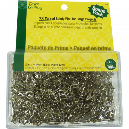 300 Curved Safety Pins - Dritz Quilting