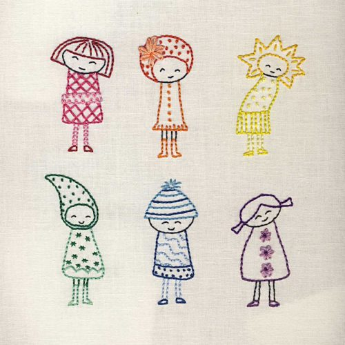 Collection de dessins de broderie