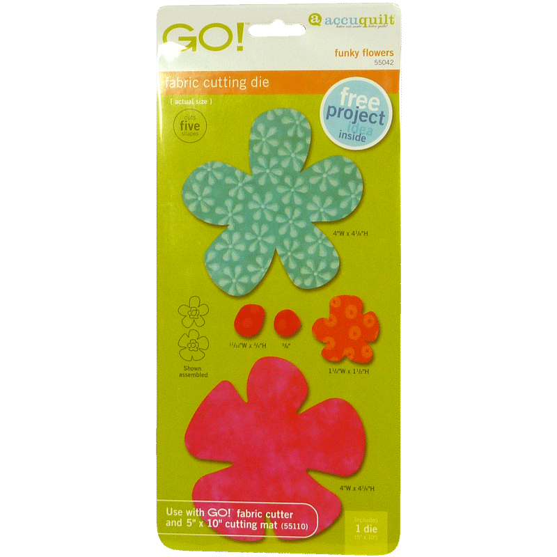 GO! Funky Flowers 55042   AccuQuilt