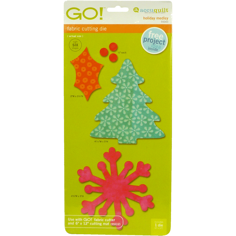 AccuQuilt GO! Holiday Medley 55043