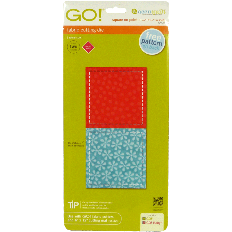 """AccuQuilt GO! Square on Point-3 11/16"""" (3 3/16"""" Finished)"""