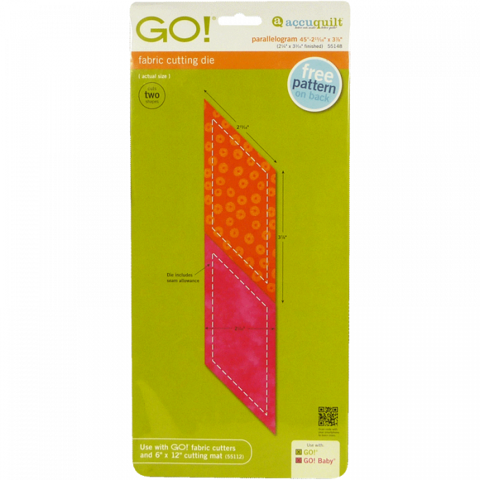 "GO! Parallelogram- (2 15/16"" x 3 7/8) 55148 | AccuQuilt"