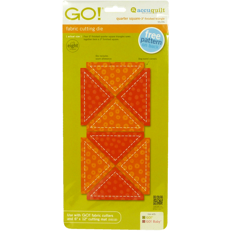 "GO! Quarter Square-3"" Finished Triangle 55396 