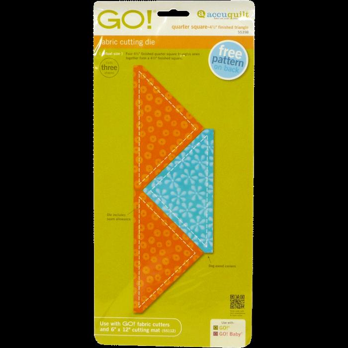 "GO! Quarter Square-4 1/2"" Finished Triangle 55398 | AccuQuilt"