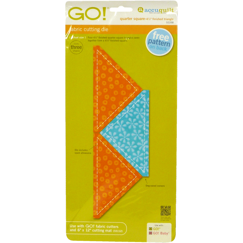 "GO! Quarter Square-4 1/2"" Finished Triangle 55398 