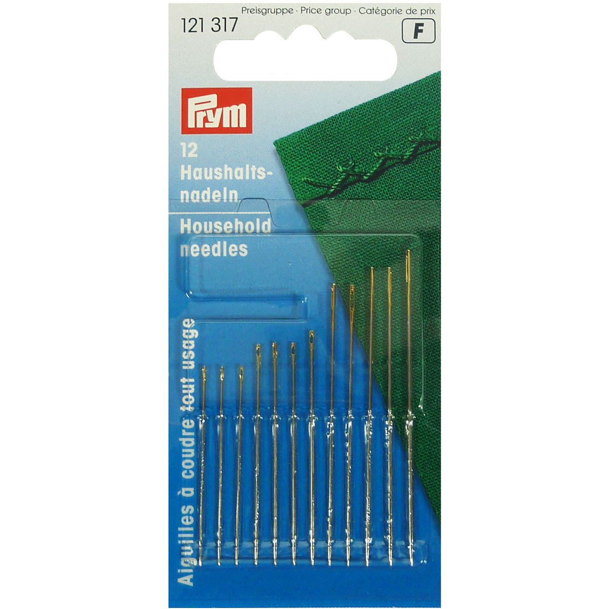 Household Needles, with Gold Eye - Assorted