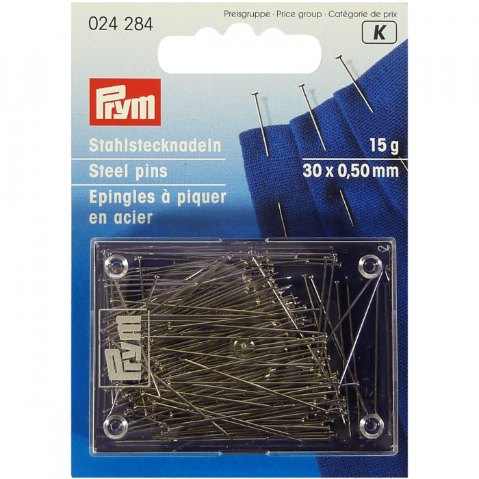 Straight Pins, Hardened & Tempered Steel Pins - Prym