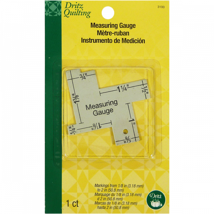 Measuring Gauge (14 in 1) - Dritz Quilting