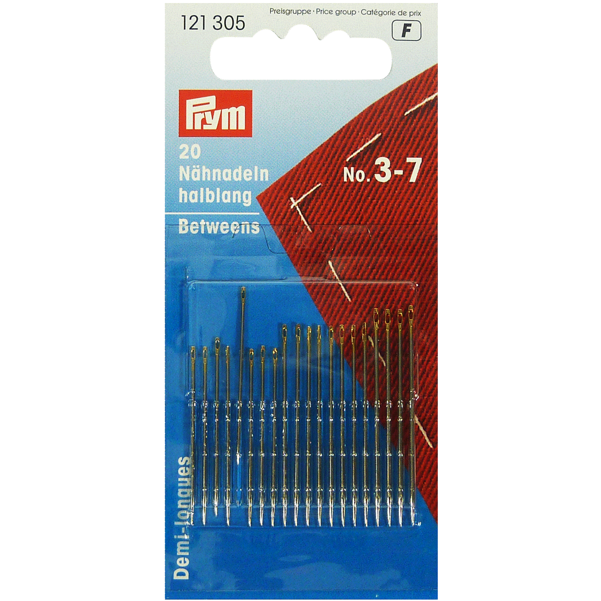 Hand Sewing Needles Betweens, with Gold Eye - No. 3-7 Assorted