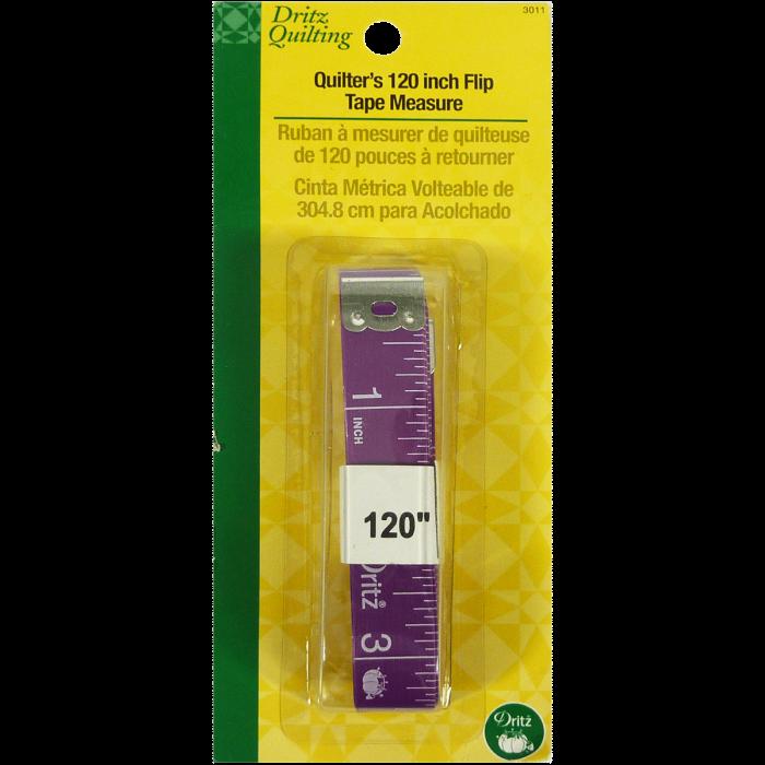 Quilter's Tape Measure - Dritz Quilting - Ruban à Mesurer de quilteuse de 120 pouces à retourner