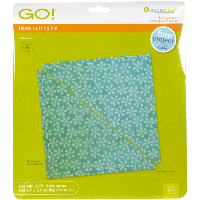 """AccuQuilt GO! Finished Triangle (Triangle-6 1/2"""")"""
