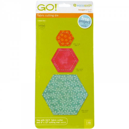 "AccuQuilt GO! Hexagone-2"", 3"", 5"""