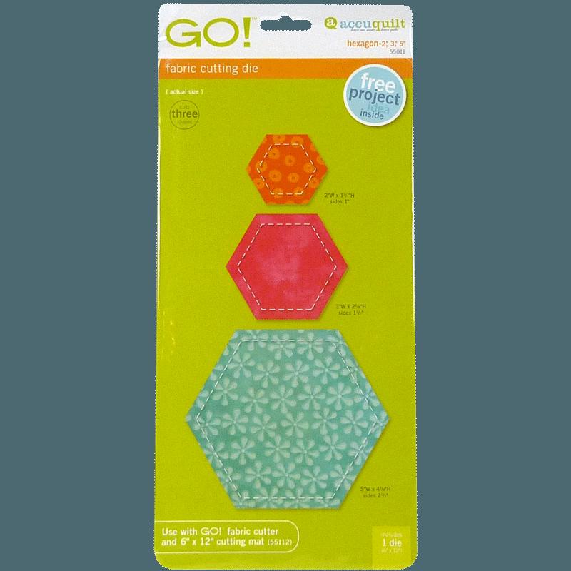 "GO! Hexagon-2"", 3"", 5"" 55011 | AccuQuilt"