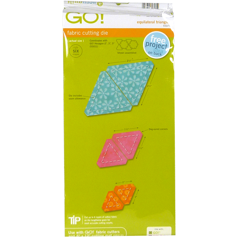 Accuquilt Go Equilateral Triangles 55079 Monfil Ca