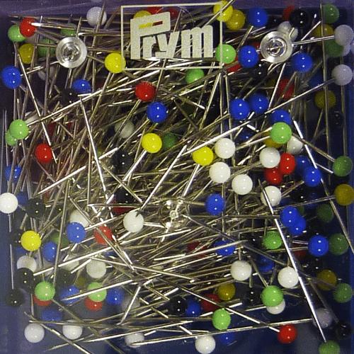 100 Glass-Headed Pins - Prym