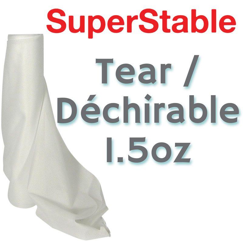 1.5 oz White Tearaway Stabilizer