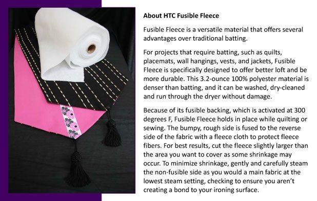 9720 White Fusible Fleece 15 x 15 yards
