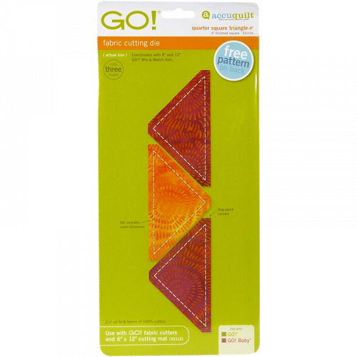 AccuQuilt GO! Quarter Square Triangle-4""