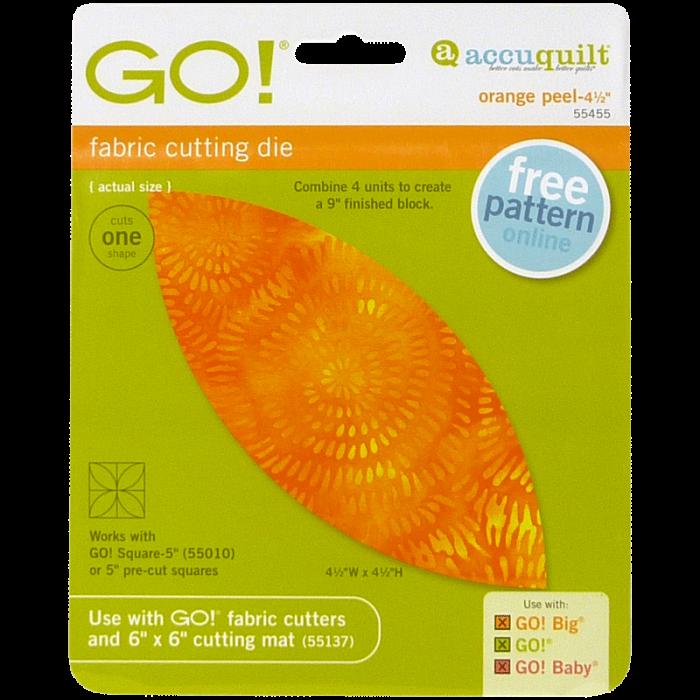 """AccuQuilt GO! Orange Peel- 4 1/2"""""""