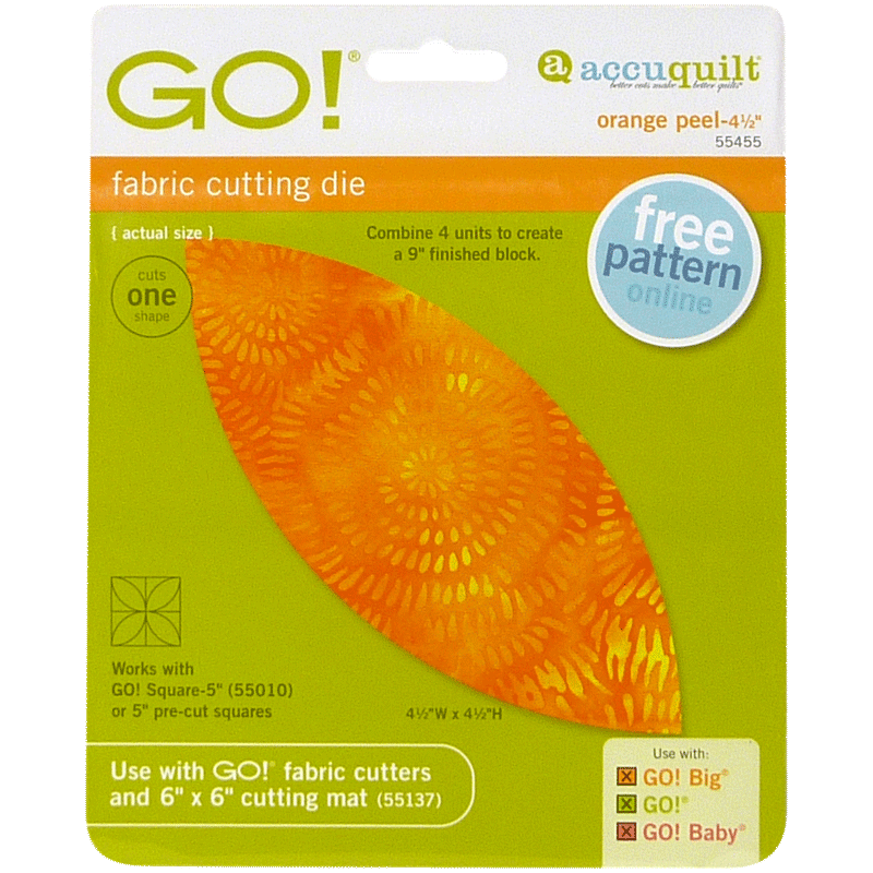 AccuQuilt GO! Orange Peel- 4 1/2""