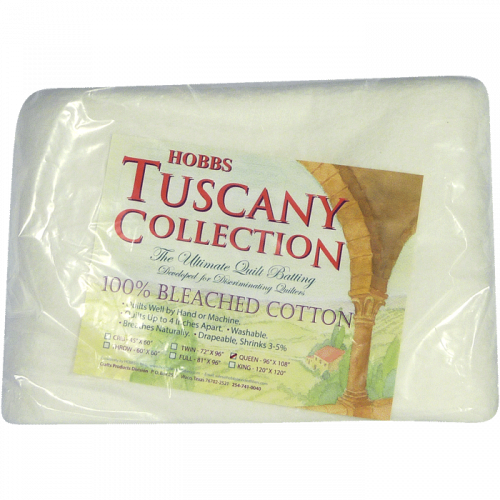 Cotton Batting - Bourrure de Coton 100% Coton Blanchis - Collection Tuscany