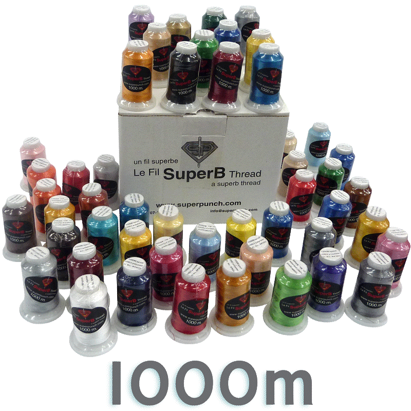 SuperB Embroidery Thread 1000m