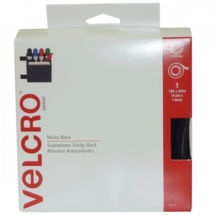 Velcro Sticky Back Fasteners - 15ft x 3/4in