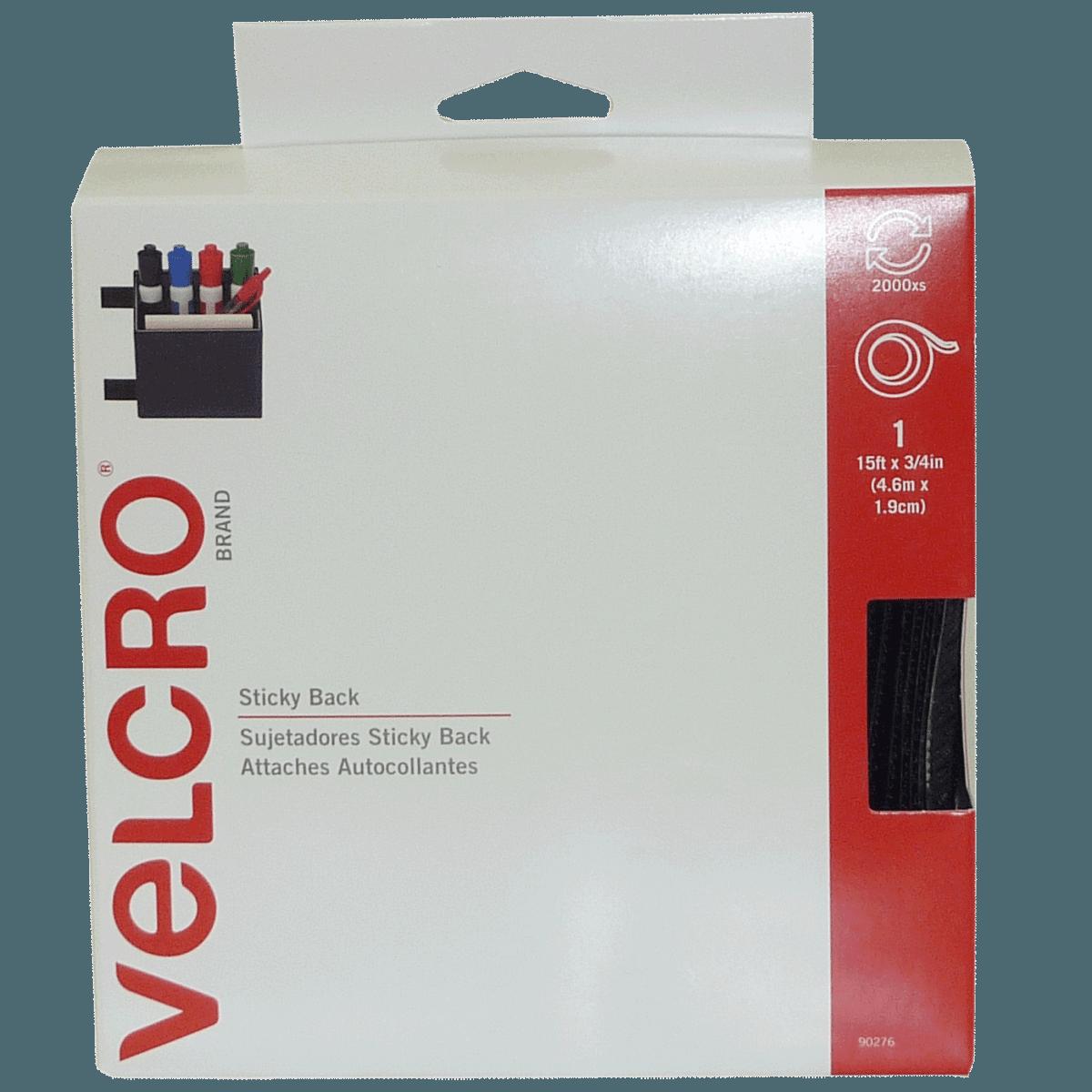 Attaches Autocollantes Velcro - 4.6m x 1.9cm