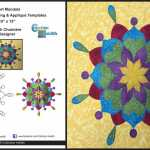 Free Quilt Block - Collection Inédith - Heart Mandala - FMQ and Appliqué
