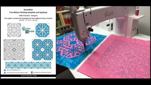 Quilt Block of the Month for October 2016 - Collection Inédith - Snowflake