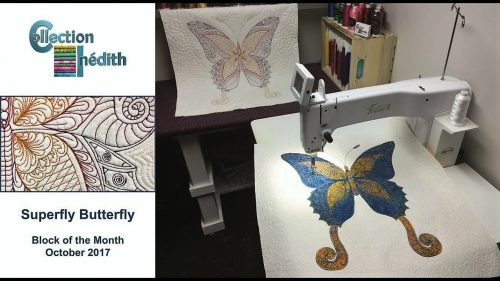 Quilt Block of the Month for October 2017 - Collection Inédith - Superfly Butterfly